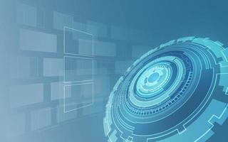 fundo de conceito futurista digital de tecnologia sci fi vetor
