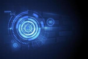 círculo azul abstrato tecnologia inovação conceito de fundo vector