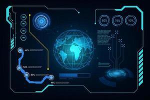 fundo de tela de tecnologia futurista abstrato vetor