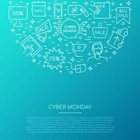 coleção de ícones de segunda-feira cibernética.