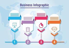 infográfico de negócios e corporativos ou banner de apresentação vetor