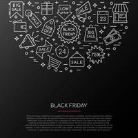 coleção de ícones de sexta-feira negra.
