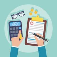 composição do conceito de serviço de seguro saúde vetor