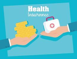 banner de conceito de serviço de seguro saúde vetor