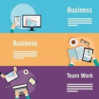 conjunto de banner modelo empresarial e corporativo vetor