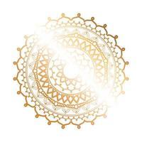 design em forma de flor de mandala ouro vetor
