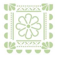 ícone de flor verde mexicana em fundo branco