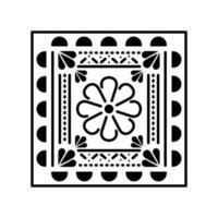 ícone de flor mexicana na praça