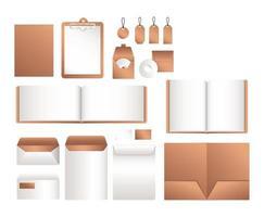 arquivo de maquete isolado e design de envelopes vetor