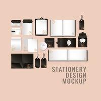 conjunto de maquete com design de marca preta