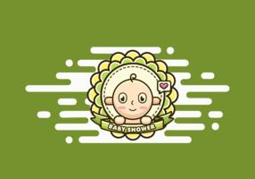Vetor do chuveiro de bebê