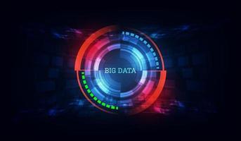 fundo abstrato de tecnologia de dados vetor