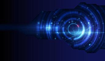fundo de tecnologia abstrato luz azul vetor