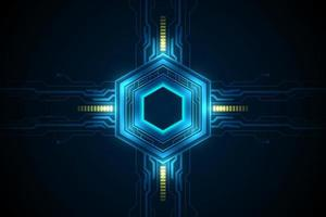 padrão hexagonal futurista de ficção científica vetor