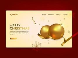 página de destino de feliz natal