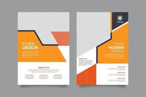 modelo de layout de capa de negócios com formas laranja vetor