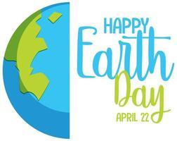 ícone do feliz dia da terra