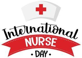 logotipo do dia internacional da enfermeira com boné de enfermeira vetor