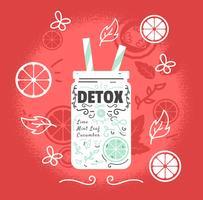 Ilustração do poster Detox vetor