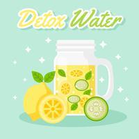 Jar Com Detox Water Vector
