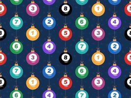 Feliz Natal Bilhar padrão horizontal sem costura vetor
