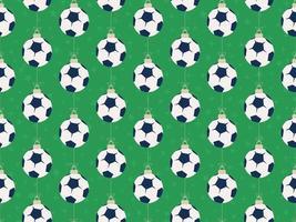feliz natal futebol ou futebol padrão horizontal sem costura vetor