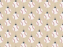 feliz natal beisebol sem costura horizontal padrão vetor