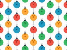 bola de boliche feliz natal padrão horizontal sem costura vetor