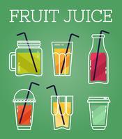 Vetor de sucos de frutas
