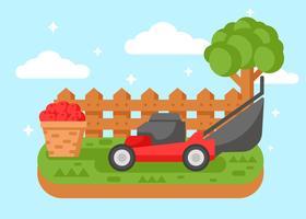 Ilustração de cortador de grama