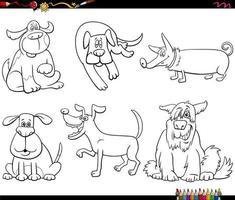 personagem de desenho animado conjunto de livro para colorir vetor