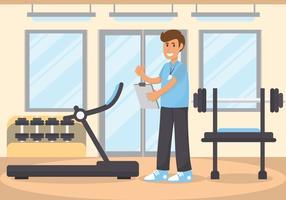 estilista treinador de fitness vetor