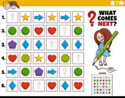 preencher a tarefa educacional padrão para crianças vetor