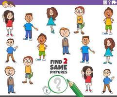 encontrar o mesmo jogo de personagens infantis vetor