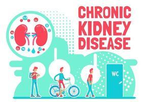 pôster de doença renal crônica vetor