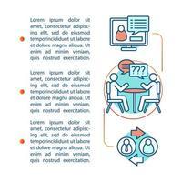 modelo de página de artigo de habilidades de comunicação vetor