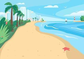 litoral de praia arenosa vetor