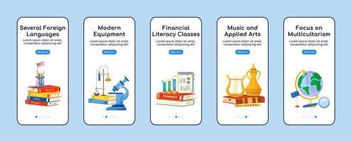 aplicativo móvel de integração de disciplinas escolares vetor