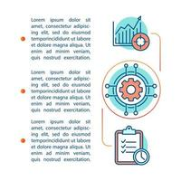 modelo de página de artigo de gerenciamento vetor