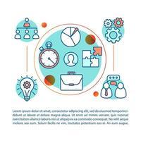 conjunto de conceito de trabalho em equipe vetor