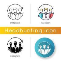 conjunto de ícones de gerente vetor