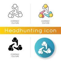 ícones da cultura da empresa vetor