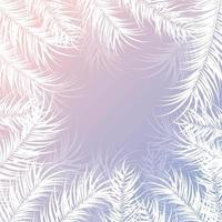 design tropical com folhas de palmeira e plantas brancas vetor