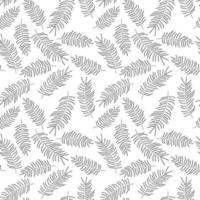 padrão sem emenda com folhas pretas tropicais vetor