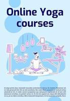 pôster de cursos de ioga online vetor