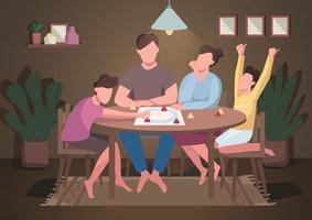 família jogar jogo de tabuleiro vetor