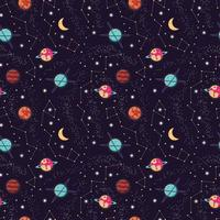 universo com planetas e estrelas padrão sem emenda vetor