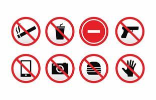 Pacote de vetores de sinal proibido