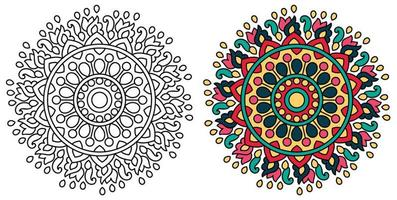 desenho de mandala para colorir decorativo arredondado decorativo livro de colorir