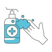conceito de prevenção de lavar as mãos vetor